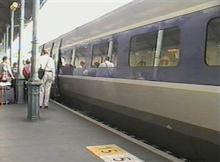 Boarding from the train platform