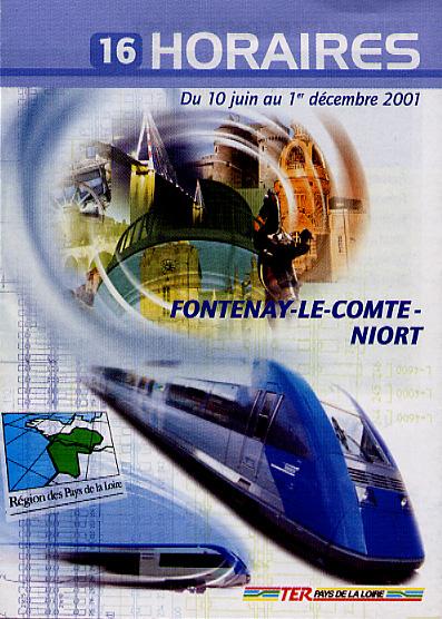 Cover of a regional train schedule brochure