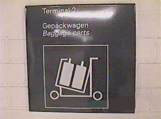 Sign for luggage carts