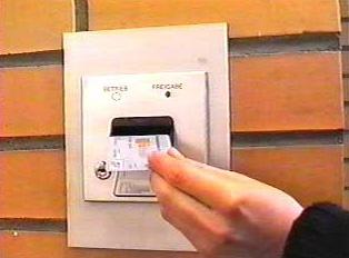 Inserting bank card