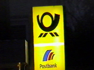 A bank sign