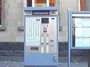 A bus ticket vending machine