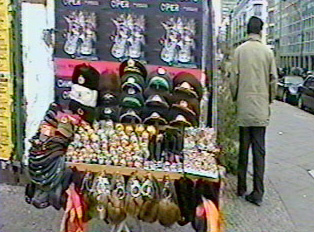 Souvenirs for sale at a street vendor
