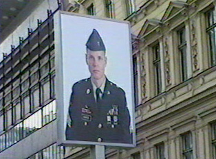 A representation of an American soldier