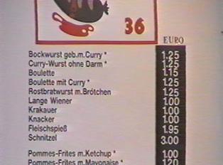 A menu sign