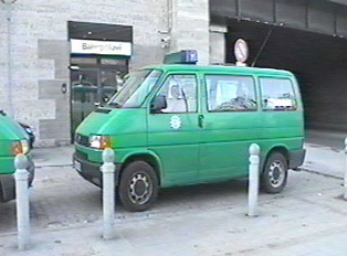 A van for the German special police forces