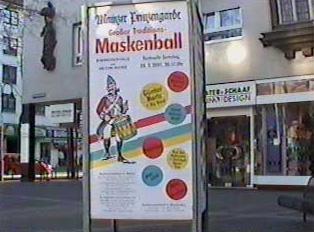 Sign for Masquerade ball
