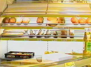 A bakery stand at a supermarket