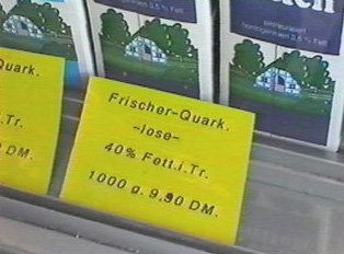 A price sign for quark
