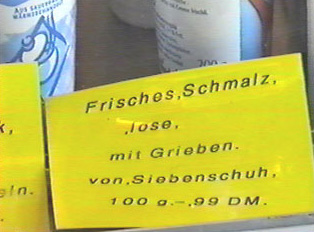 A price sign for schmalz