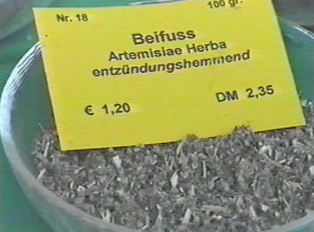 Herb on display with a price sign