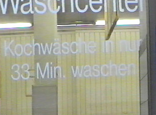 'Kochwäsche' in 33 minutes sign
