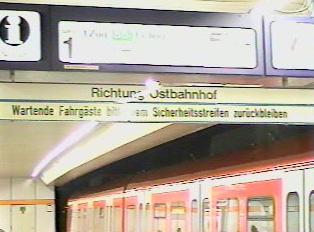 A platform sign