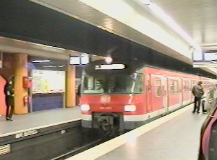 Inside a U-Bahn station