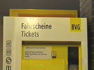 A ticket vending machine