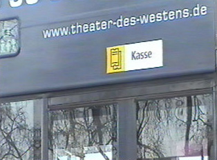 A bus sign
