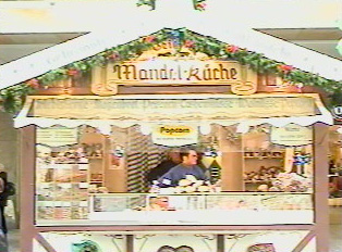 A Christmas market stand