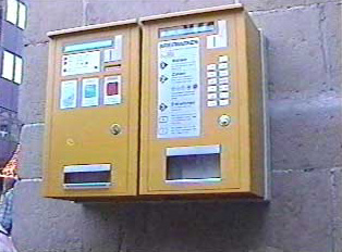 Phone card and stamp machines