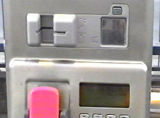 This phone requires a card which goes in the card slot shown