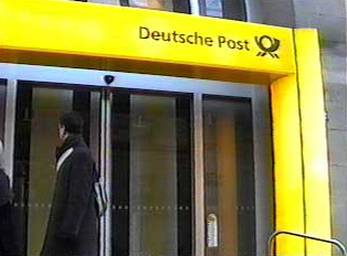 Deutsche Post with symbol above entrance to post office