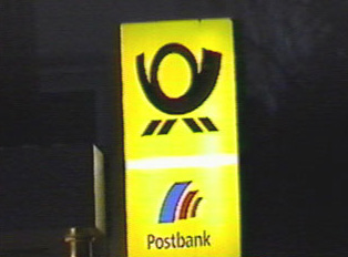 Close up of post office and postbank sign