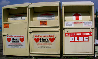 Clothing and shoe donation boxes