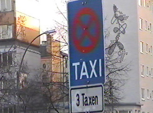 Special parking sign for taxis