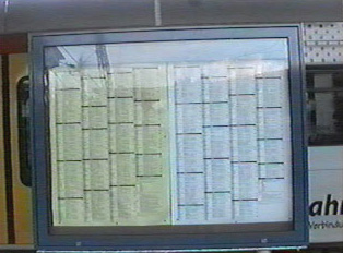 Schedules posted at the station