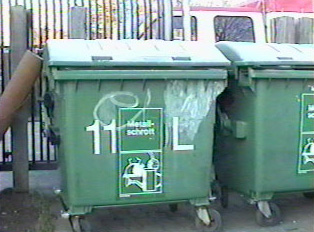 Bin for metal materials