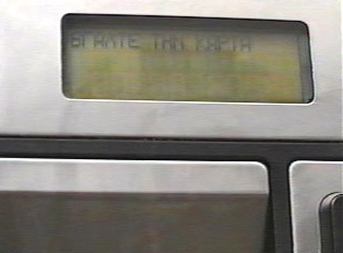 Display screen asks caller to take out the card