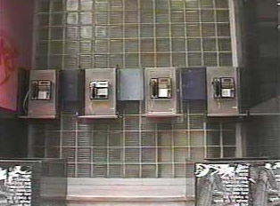 Row of public phones