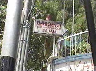 Direction toward emergency unit