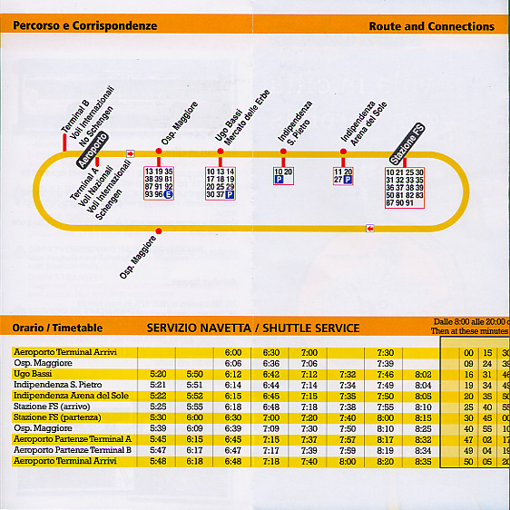 Airport shuttle information