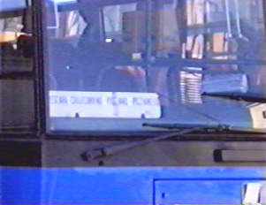 The main regional bus stops are listed on the card in the driver's window