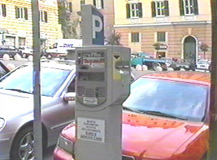 Automatic parking permit dispenser