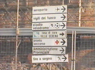 Directional signs within the city