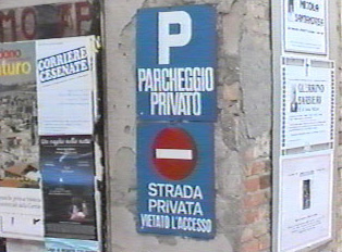 Private parking, private street, no entry