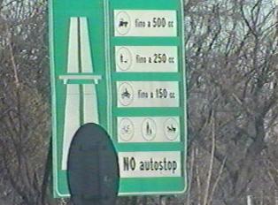 Autostrada entrance