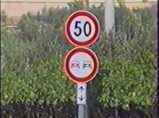 Speed limit 50 kph