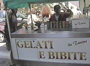 Outdoor gelato cart