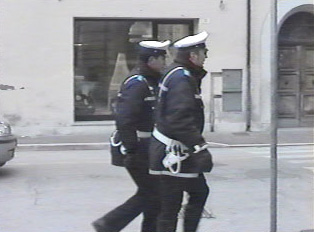 Officers on foot