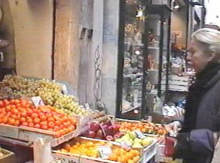 Produce on display