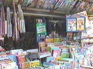 Goods sold at newsstand