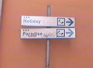 Hotel directional signs