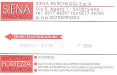 Parking receipt from Siena