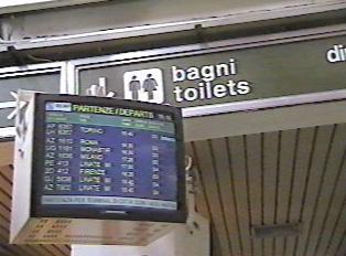 Train station restrooms