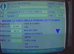 Computerized information about train arrivals and departures