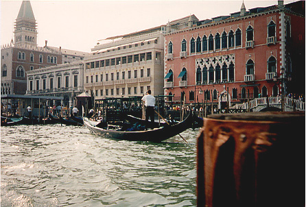 Gondola on the water
