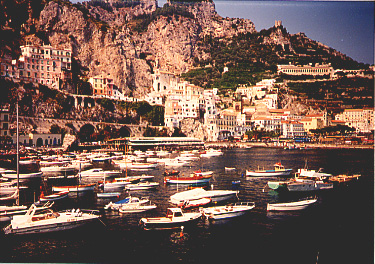 Private boats on the Amalfi coast