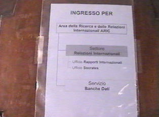 Entrance (Ingresso) for Research and International Relations